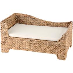 Canapé pour chat en jacinthe d'eau tressée - SILVIO DESIGN