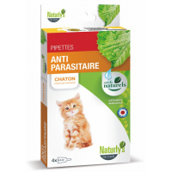 NATURLY'S - Pipette anti-puce naturelle pour chaton Anti Parasitaire