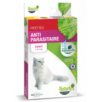 NATURLY'S - Pipette anti-puces naturelle pour chat Anti Parasitaire