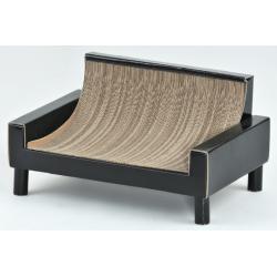 Sofa pour chat en carton noir - Silvio Design