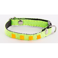 Collier réglable pour chat à rivets pyramide Fluo Color - ALTER EGO