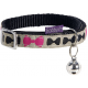 Collier pour chat au motif nœuds + grelot Girly - BOBBY