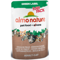 ALMO NATURE - Pâtée pour chat Green Label Raw Pack pochon 6 x 55 g
