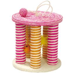 Griffoir multicolore pour chat en sisal Jazz - BOBBY