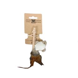 Canne à pêche pour chat en matériaux naturels 15 cm - CANACAT