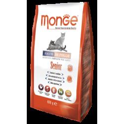MONGE - Croquettes pour chat Senior en sachet 10 x 400 g