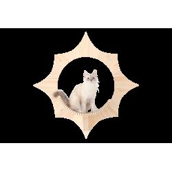 Arbre à chat mural Solar -...