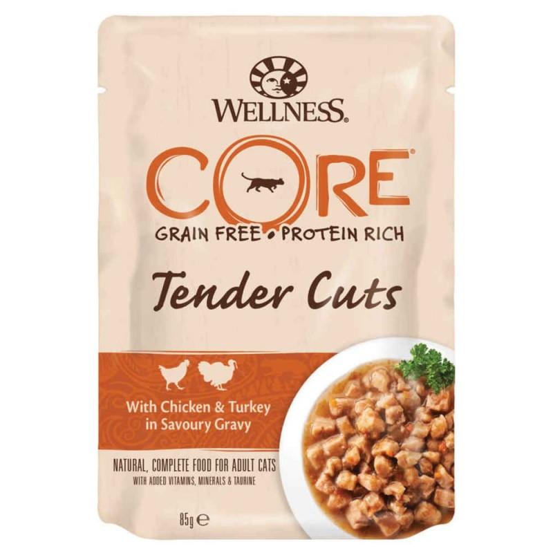 Pâtée pour chat Tender Cuts 85g x 1 - WELLNESS COR
