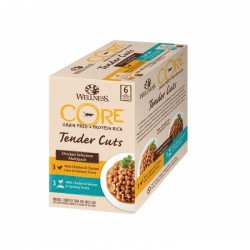Pâtée pour chat Multi Pack Tender Cuts x 6 (510g) - WELLNESS COR