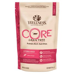 Croquettes pour chat sans cérale STERILISED Saumon - WELLNESS COR