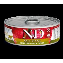 FARMINA - N&D Quinoa Skin & Coat pâtée pour chat 80 g