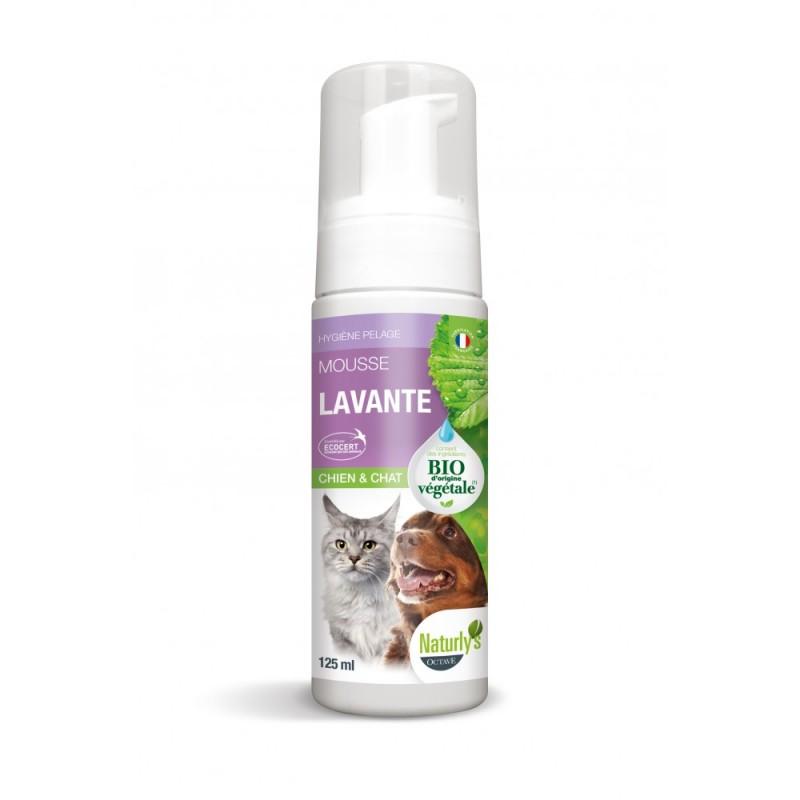 NATURLY'S - Mousse Lavante BIO chat et chaton 140 ml