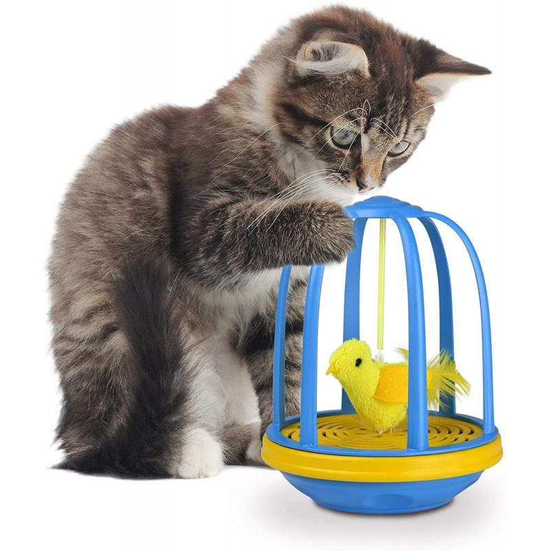 Jouet pour chat électronique Bird in Cage - OURPETS