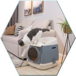 Maison de toilette ouverture vers le haut - Cat Residence