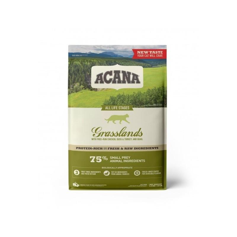 ACANA - Croquettes sans céréale Grasslands pour Chat