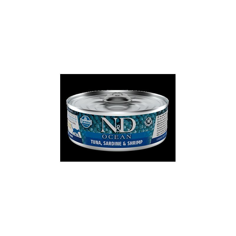 FARMINA - N&D Océan pâtée complète pour chat 80 g