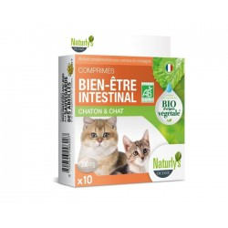NATURLY'S - Comprimés Bien-être Intestinale BIO pour chat