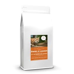 Croquettes sans céréale Poulet et Saumon pour chaton 2 kg - CAT APART
