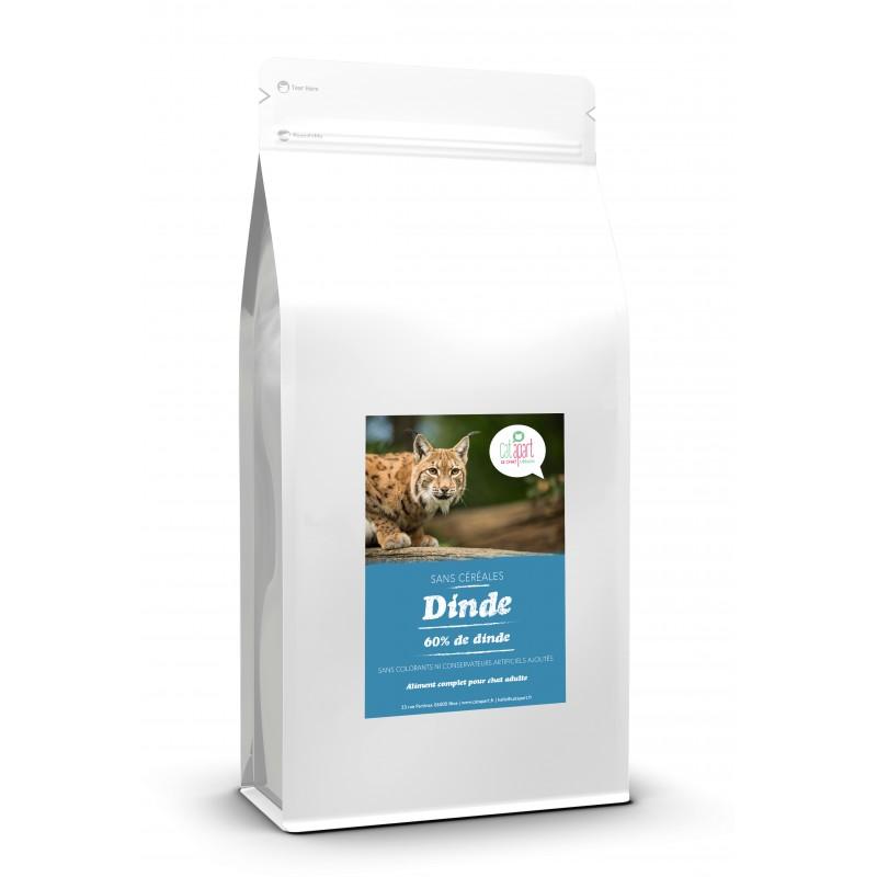 Croquettes sans céréale à la dinde pour chat 2 kg - CAT APART