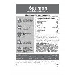 Croquettes sans céréale au Saumon pour chat 2 kg - CAT APART