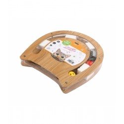 Aire de jeux pour chat carton et bois - WOUAPY