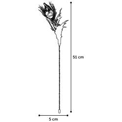 Plumeau pour chat Plumes Glitty 36 cm x 1 - FLAMINGO