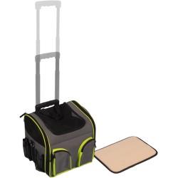 Sac de transport à roulettes Trolley Fluo 37,5X33X39cm - FLAMINGO