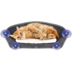 Hamac de fenêtre pour chat Benji 62x24,5x22,5CM - FLAMINGO