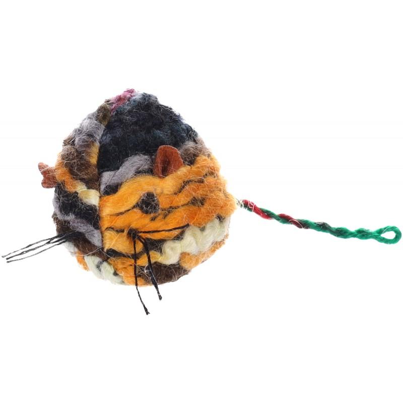 Jouet pour chat en laine x 1 - FLAMINGO