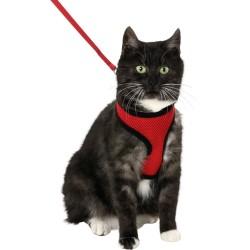 Kit Harnais et laisse pour chat et grand chat Harms - FLAMINGO