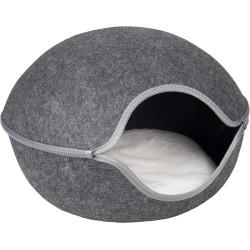 Dôme pour chat en feutrine Shaba 47x45x31 cm - FLAMINGO