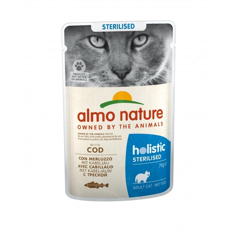 ALMO NATURE - Pâtée pour chat Stérilisé 70 g