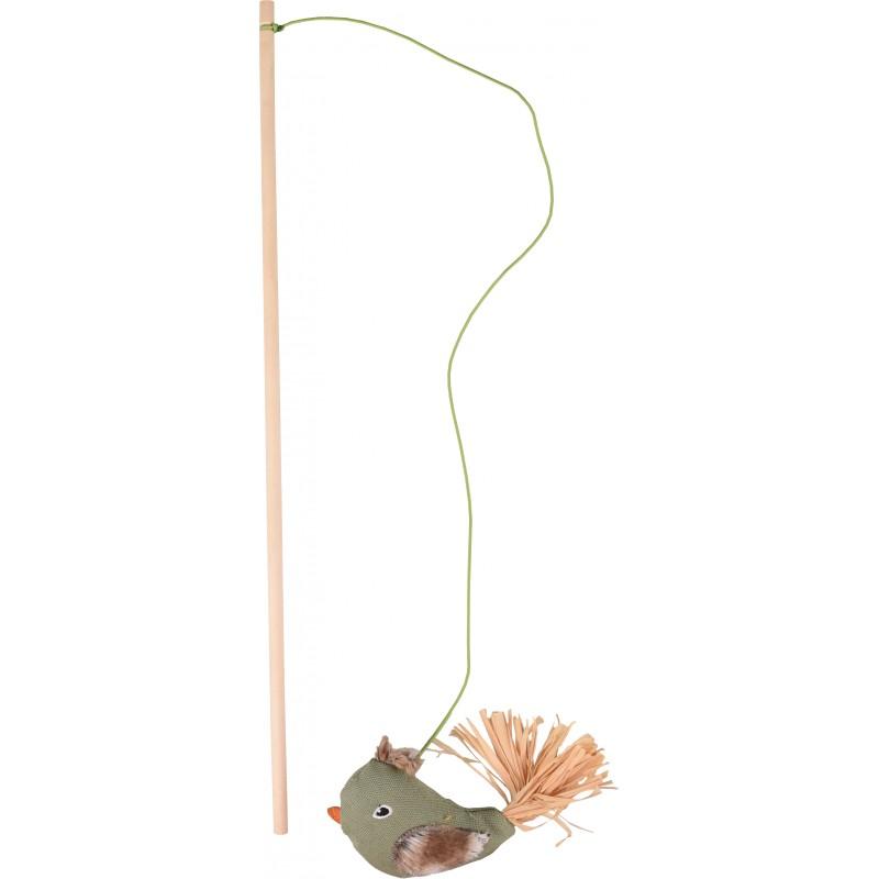Canne à pêche pour chat Natura Delight Mix 45 cm - FLAMINGO