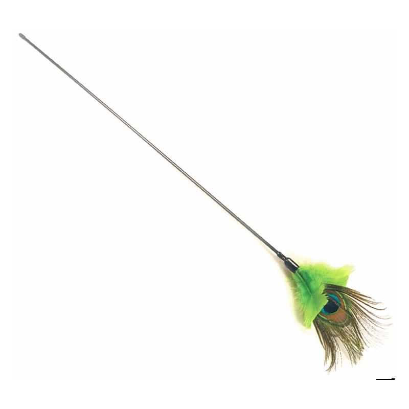 Plumeau pour chat en plume de paon