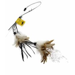 Canne à pêche pour chat Crunchy Feather