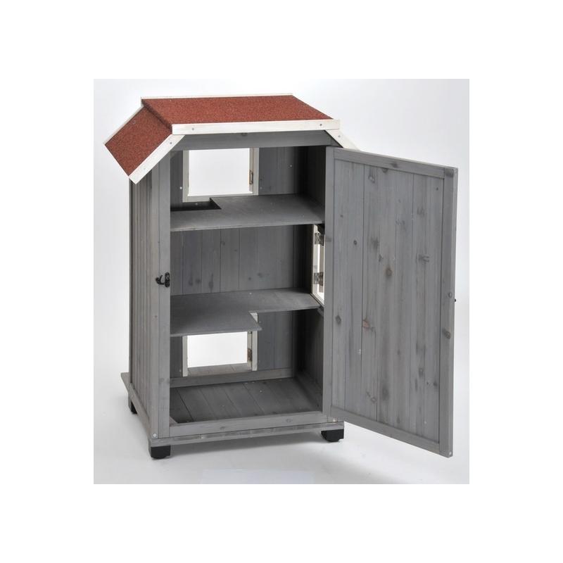 Maison chat design maison pour chat silvio design meuble litire pour chat binq design rien - Maison pour chat en bois ...