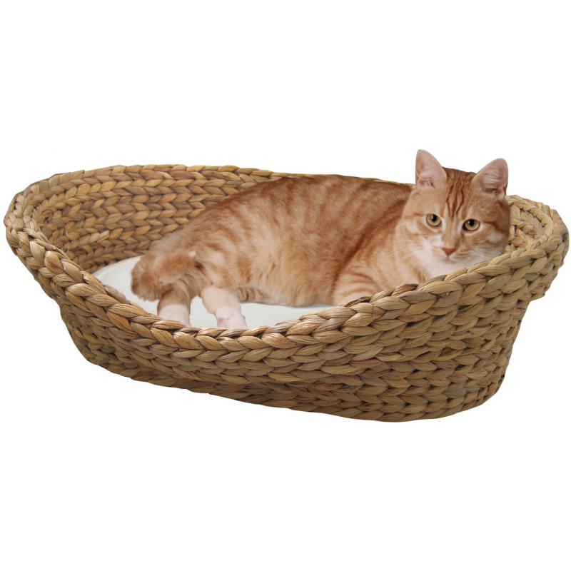 panier pour chat en jacinthe d eau tress e cat apart. Black Bedroom Furniture Sets. Home Design Ideas
