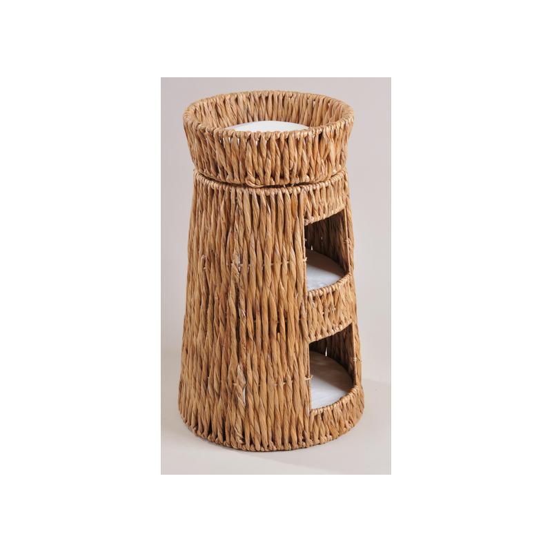 Tour pour chat en jacinthe d'eau - SILVIO DESIGN