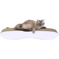 Grand griffoir en carton pour chat Sofo au design moderne  - WOUAPY