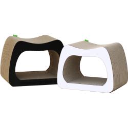 Grand griffoir en carton pour chat Kaverno au design moderne- WOUAPY
