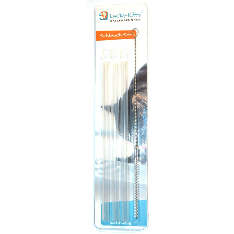 Tubes de rechange + brosse de nettoyage pour Fontaine LUCKY-KITTY