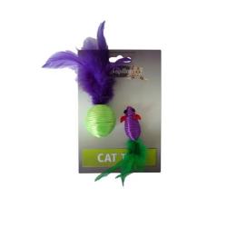 Jouets pour chat sonores à plumes - NOS PETITS PRIX