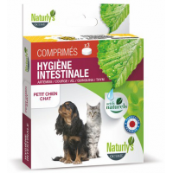NATURLY'S - Comprimés naturels Hygiene Intestinale pour chat x 3