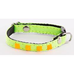 Collier réglable pour chat à rivets pyramide Fluo Color - ALTER EGO