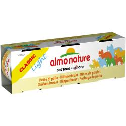 ALMO NATURE - Pâtée pour chat Classic Light en Lot 3 boîtes de 50 g