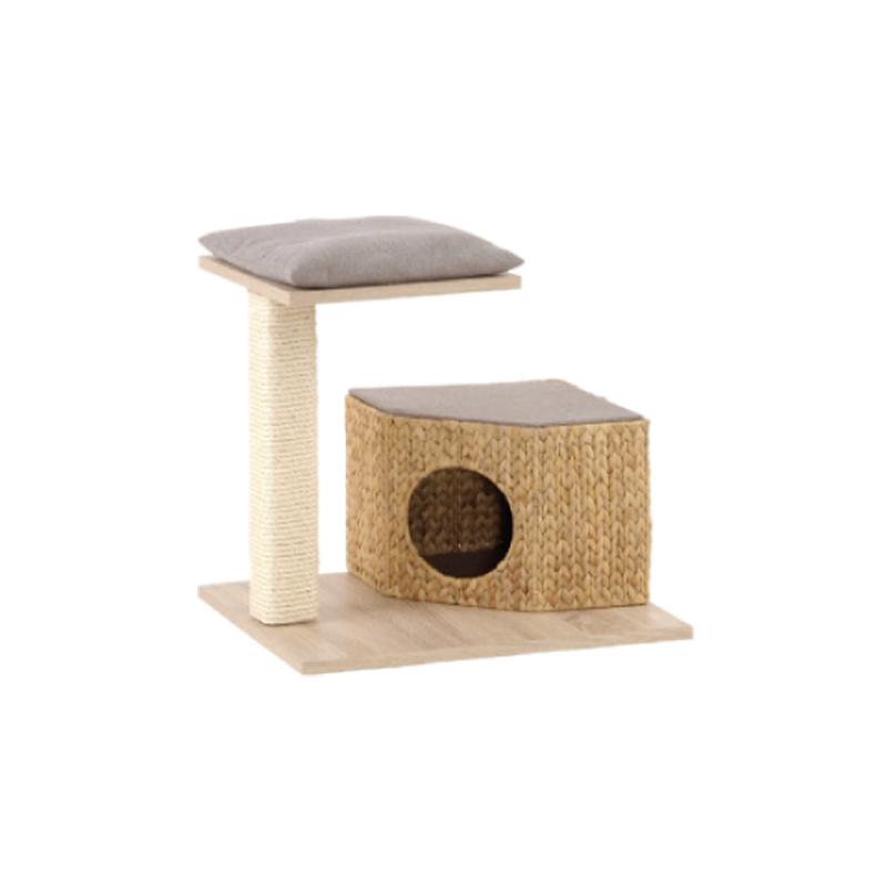 arbre chat naturel jacinthe tress e et bois silvio design. Black Bedroom Furniture Sets. Home Design Ideas