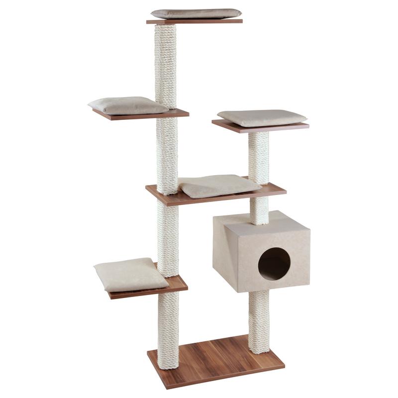 arbre chat solide en bois pour grandes races cosy. Black Bedroom Furniture Sets. Home Design Ideas