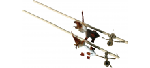 Canne à pêche pour chat en matériaux naturels 50 cm - CANACAT