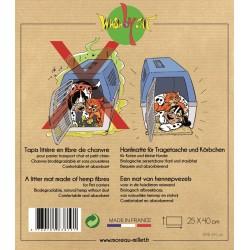 Tapis litière de transport pour chat en fibres naturelles - WASABYCAT