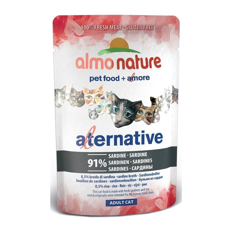 ALMO NATURE - Pâtée pour chat The Alternative en Pochon de 55 g
